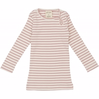 Petit Piao - modal striped LS T-shirt rose