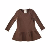 Petit Piao - Dress LS Modal // Bison Brown