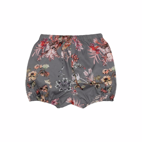 Christina Rohde shorts/bloomers i grå med blomsterprint