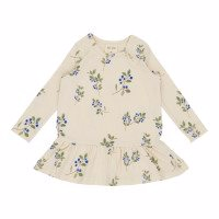 Petit Piao - Dress LS Printed // Blueberry