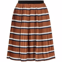 The New - Rachel Pleat Skirt // Mocha Bisque